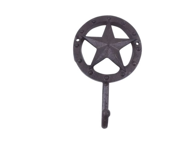 Cast Iron Lone Star Decorative Metal Wall Hook 5