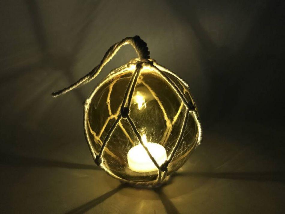 Wholesale LED Lighted Amber Japanese Glass Ball Fishing ...